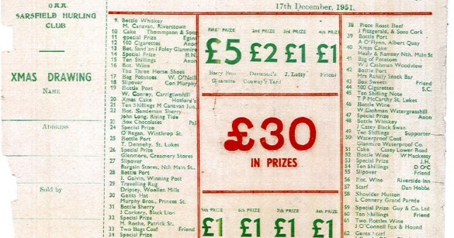 1951_Christmas_Draw_Ticket