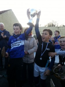 U11 tournament 2014 - Captains Raise Cup aloft