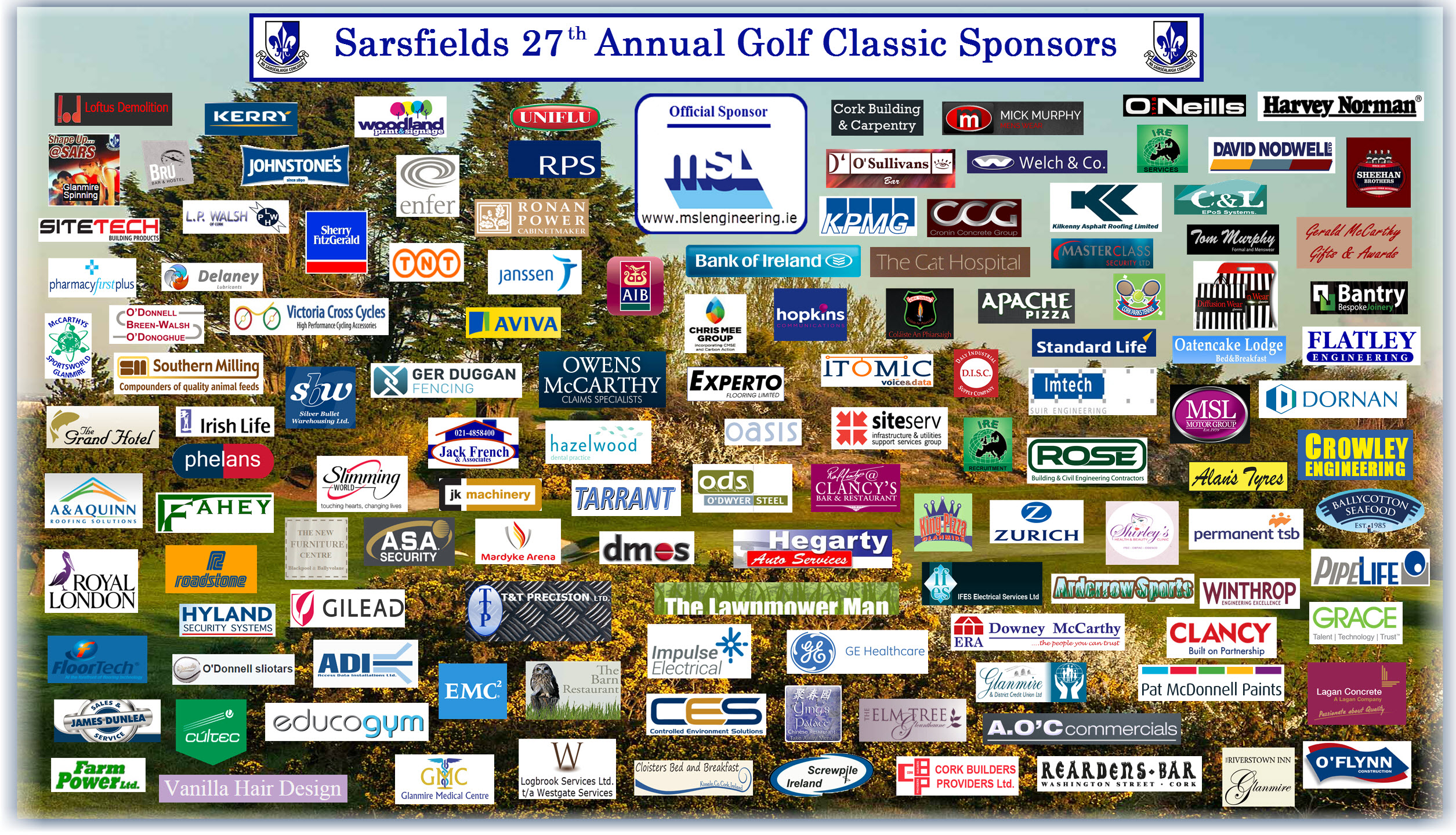27th Annual Golf Classic - Sponsors