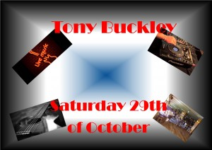 Tony Buckley will be in the Sarsfields Pavilion Saturday night which should be an entertaining evening.