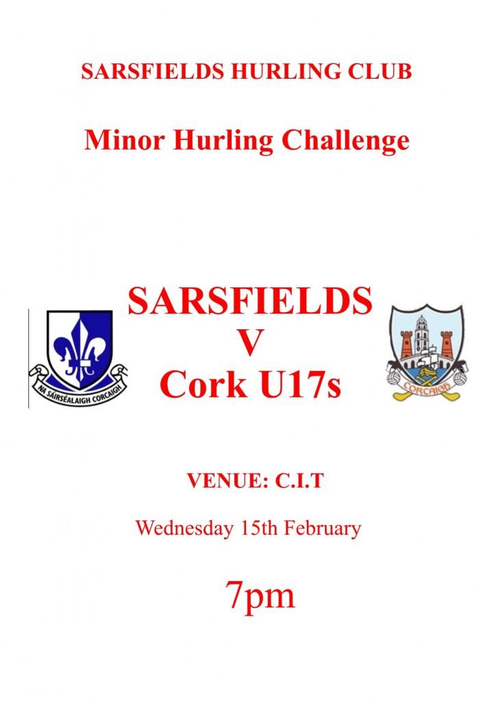 Sarsfields v Cork U17s